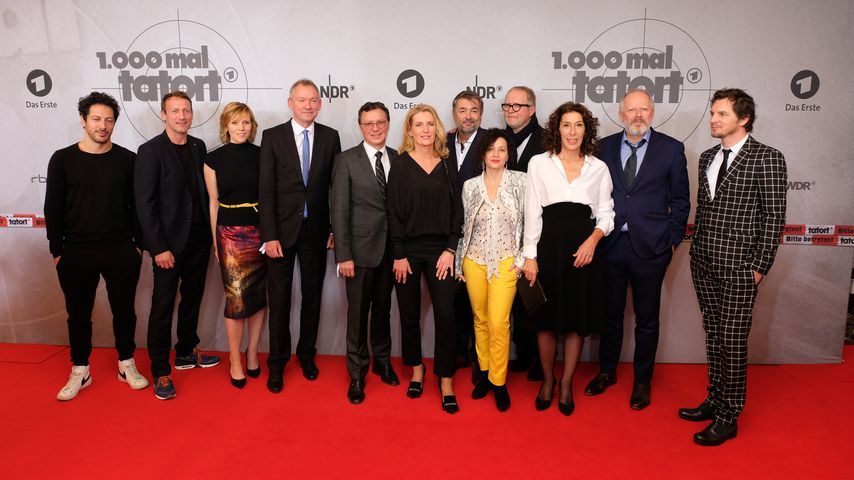 """Die """"Tatort""""-Kommissare beim Preview der 1000. """"Tatort""""-Folge"""