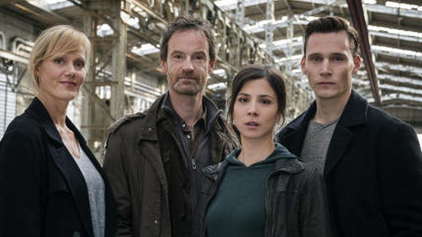 """Anna Schudt, Jörg Hartmann, Aylin Tezel und Rick Okon, Darsteller aus dem Dortmunder """"Tatort"""""""