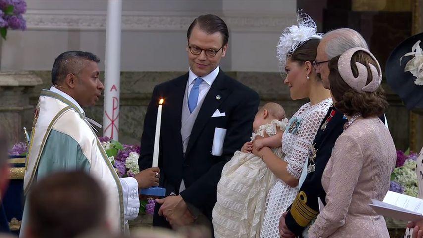 Prinz Oscar von Schweden bei seiner Taufe im Mai 2016