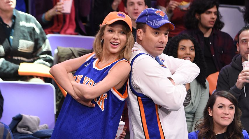 "Taylor Swift und Jimmy Fallon in der ""Tonight Show Starring Jimmy Fallon"" 2015"