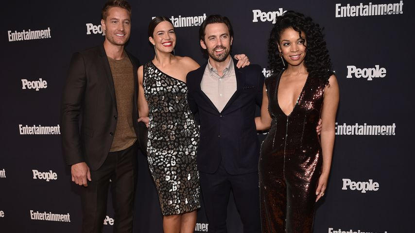 Justin Hartley, Mandy Moore, Milo Ventimiglia und Susan Kelechi Watson (v.l.) in New York