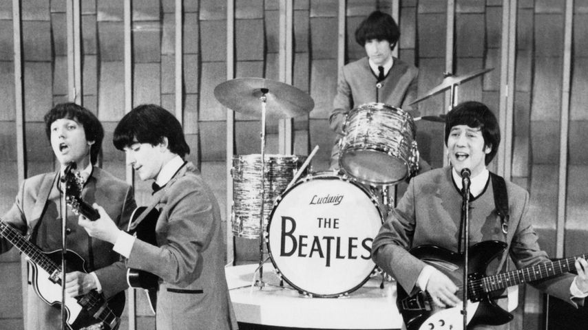 Paul McCartney, John Lennon und Ringo Starr