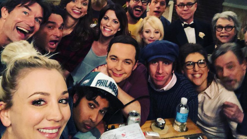 "Der Cast von ""The Big Bang Theory"" am Set"