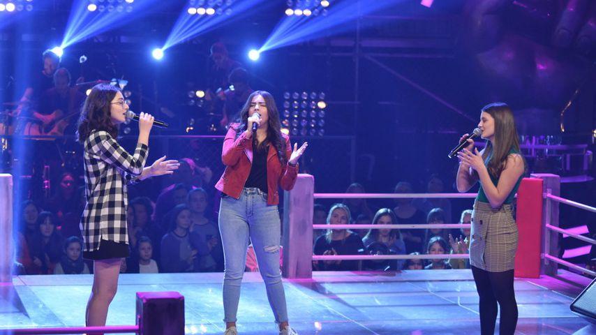 """The Voice Kids""-Kandidatinnen Nino, Lara und Magbule"