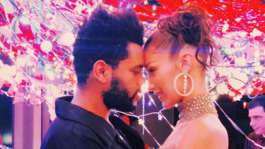 The Weeknd und Bella Hadid umarmen sich
