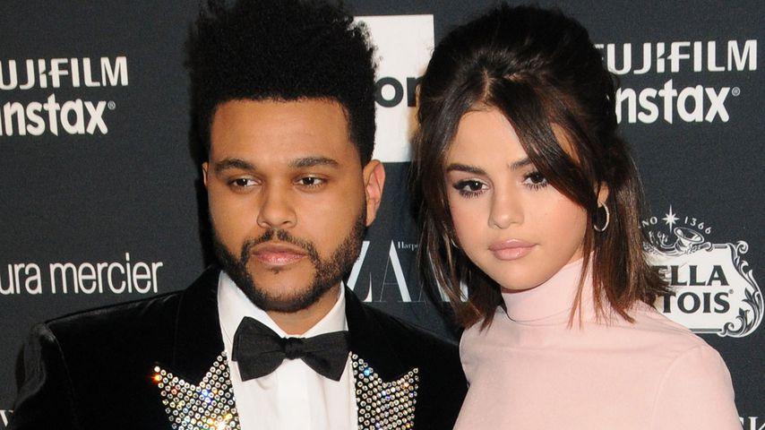 The Weeknd und Selena Gomez auf der Haarper's Bazaar Icons Party 2017