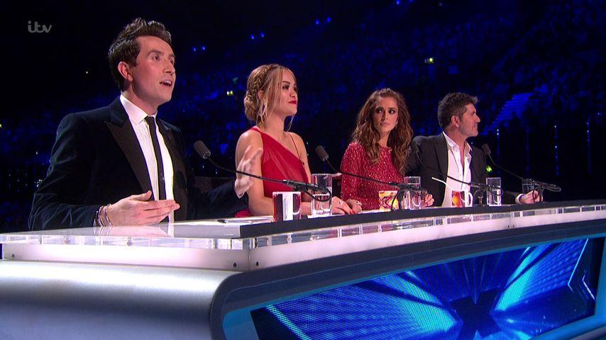 Rita Ora, Cheryl Cole, Simon Cowell und Nick Grimshaw