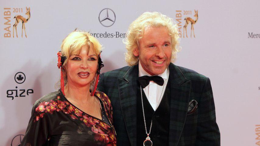 Thea und Thomas Gottschalk, November 2011 in Wiesbaden