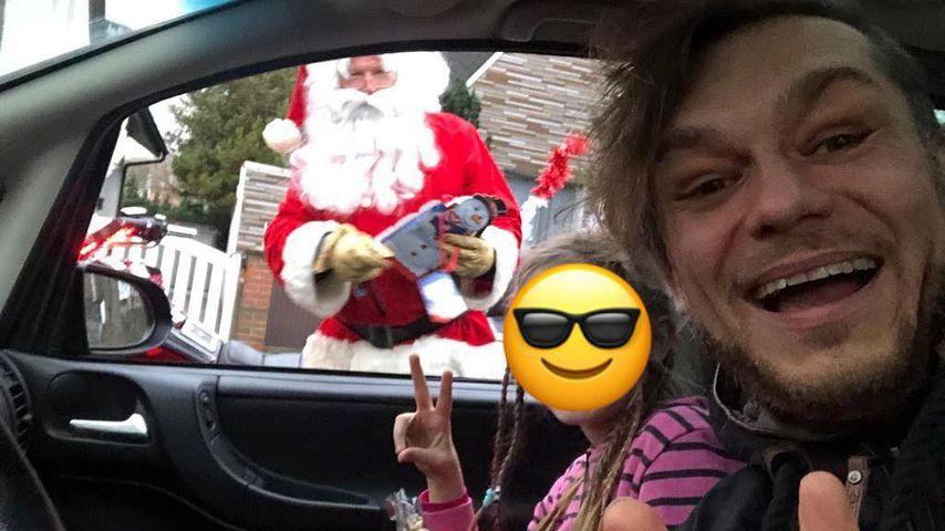 Thomas Godoj mit seinem Nachwuchs, Dezember 2018