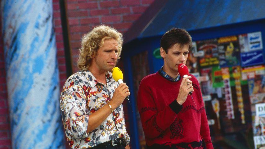 Thomas Gottschalk und Günther Jauch, 1989