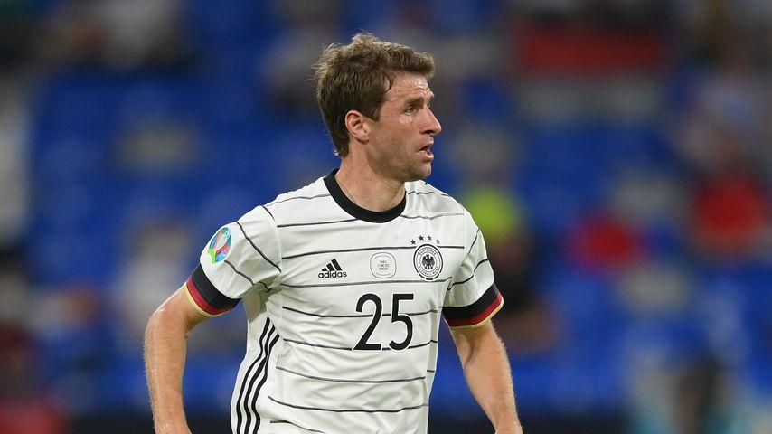 Thomas Müller bei EM-Spiel Deutschland gegen Frankreich