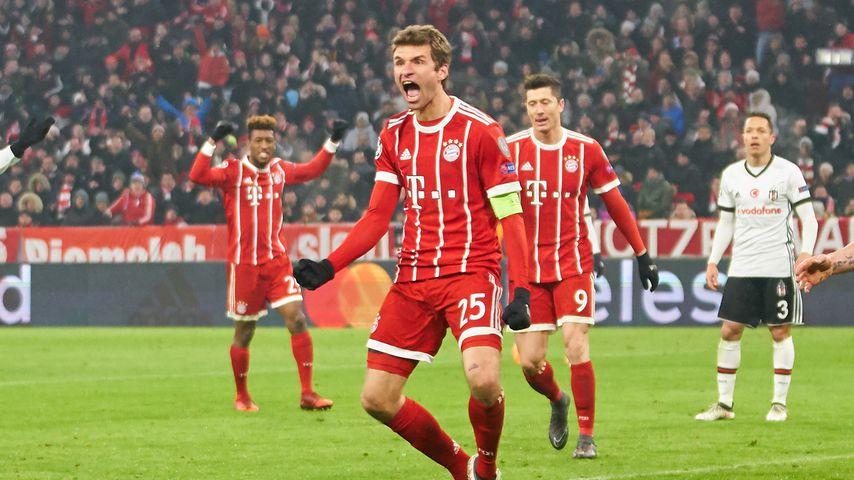 Thomas Müller nach seinem 3:0 gegen Besiktas Istanbul in der Champions League
