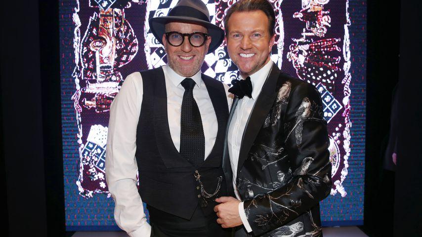 Thomas und Sandro Rath bei der Aftershow-Party einer Fashion Show