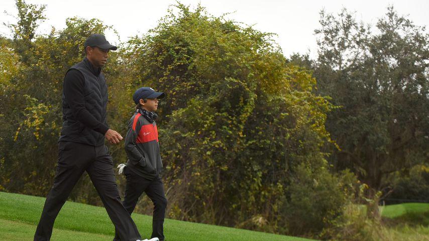 Tiger und Charlie Woods im Dezember 2020