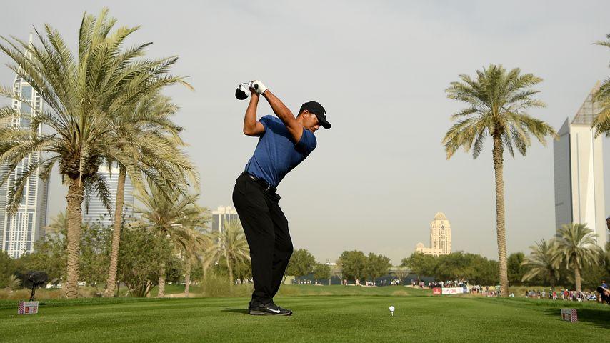 Tiger Woods beim Omega Dubai Desert Classic in Dubai