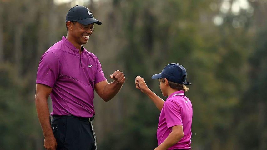 Tiger Woods' Sohn (11) spielt erstes Turnier mit seinem Papa