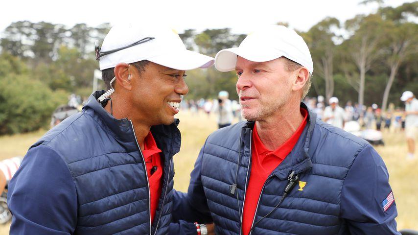 Tiger Woods und Steve Stricker im Jahr 2019