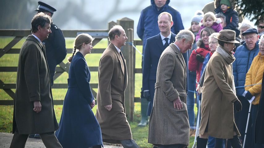 Timothy Laurence, Lady Louise Windsor, Prinz Edward, Prinz Charles und Prinzessin Anne