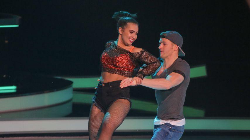 "Timur Bartels (rechts) mit Amani Fancy bei ""Dancing on Ice"" im Januar 2019"