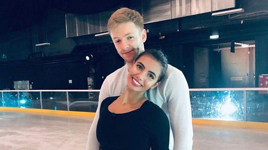 Timur Bartels und Amani Fancy auf dem Eis