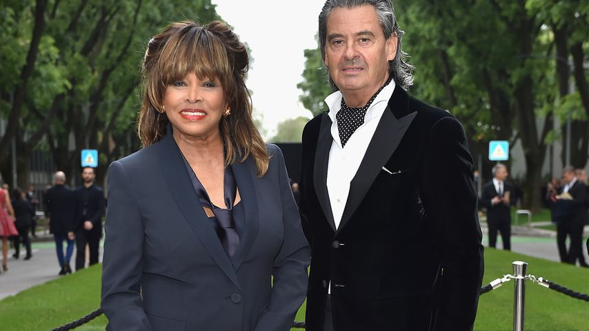 Tina Turner und Erwin Bach im April 2015