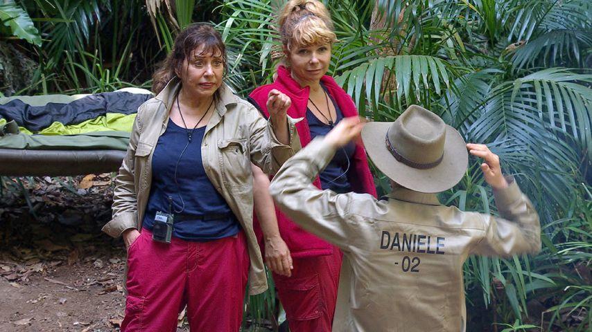 Tina York, Sandra Steffl und Daniele Negroni im Dschungelcamp, Tag 7