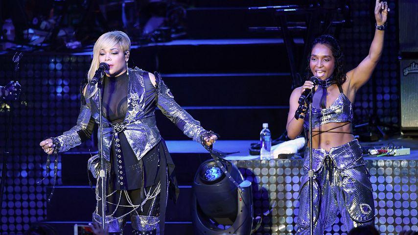 Tionne 'T-Boz' Watkins und Rozonda 'Chilli' Thomas bei einem Auftritt ihrer Band TLC