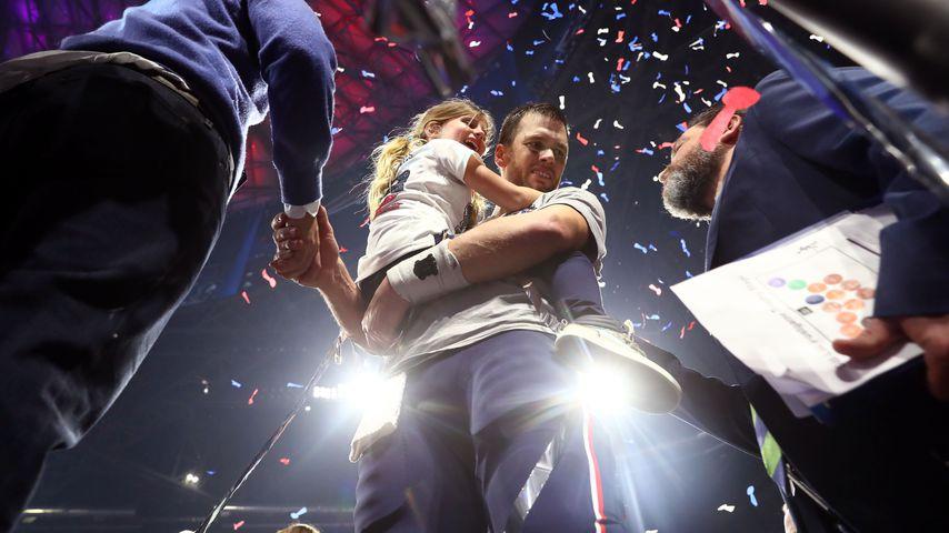 Tom Brady mit seiner Tochter Vivian nach dem Super Bowl 2019