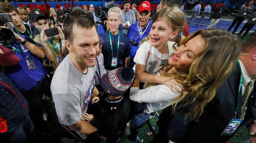 Tom Brady und Gisele Bündchen mit ihren Kindern Benjamin und Vivian, Februar 2019
