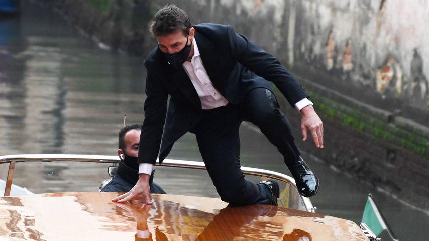 """Tom Cruise bei den Dreharbeiten für """"Mission: Impossible 7"""""""