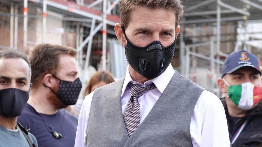 """Tom Cruise beim Dreh von """"Mission: Impossible 7"""" in Rom im Oktober 2020"""