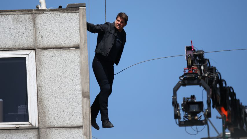 "Tom Cruise bei Dreharbeiten zu ""Mission: Impossible 6"" in London"