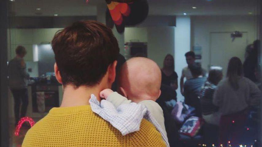 Tom Daley mit seinem Sohn Robbie zu Thanksgiving 2018