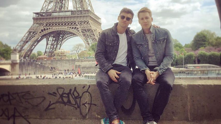 Tom Daley und Dustin Lance Black in Paris