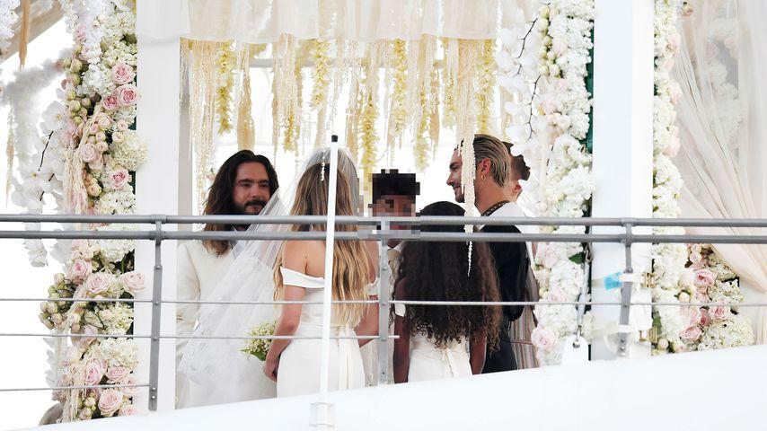 Tom Kaulitz und Heidi Klum bei der Trauung