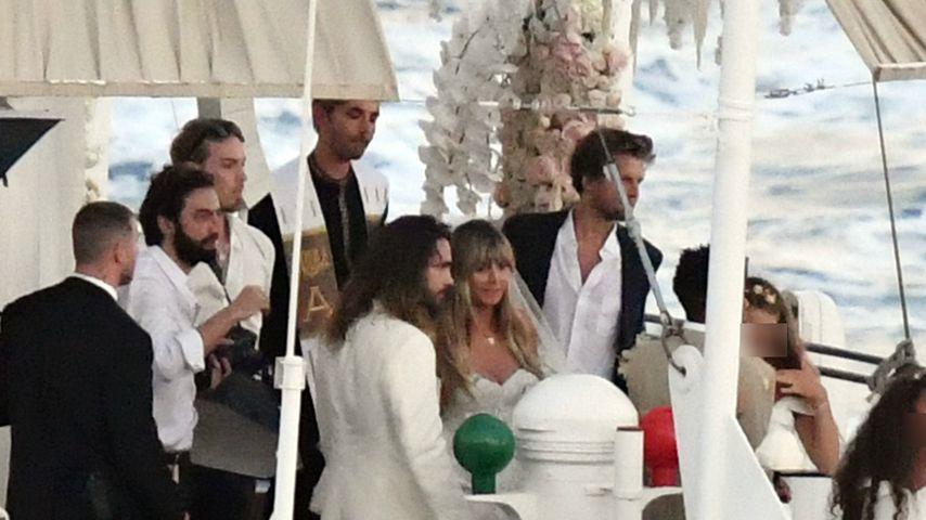Tom Kaulitz und Heidi Klum bei ihrer Hochzeit