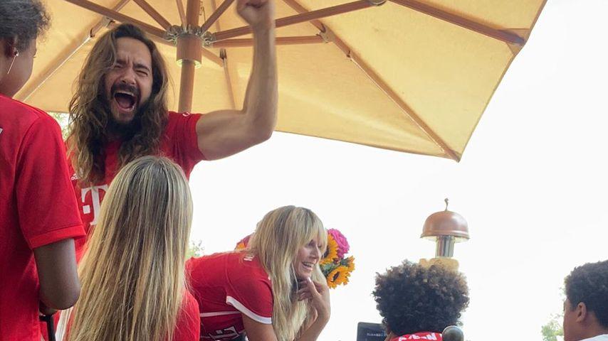 Tom Kaulitz und Heidi Klum mit deren Kindern, August 2020