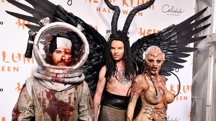 """Zu Heidis Halloween-Party: Bill als dunkle """"Maleficent""""-Fee!"""