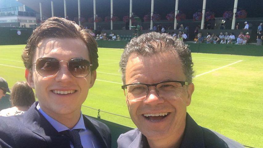Tom Holland mit seinem Vater Dominic, 2018