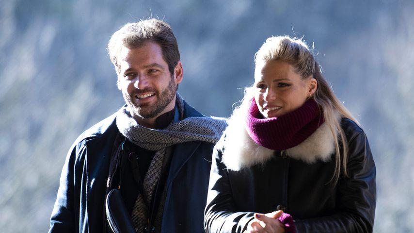 Tomaso Trussardi und Michelle Hunziker im Januar 2020
