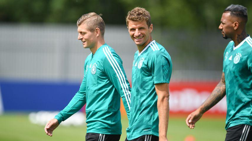 Toni Kroos, Thomas Müller und Jérôme Boateng