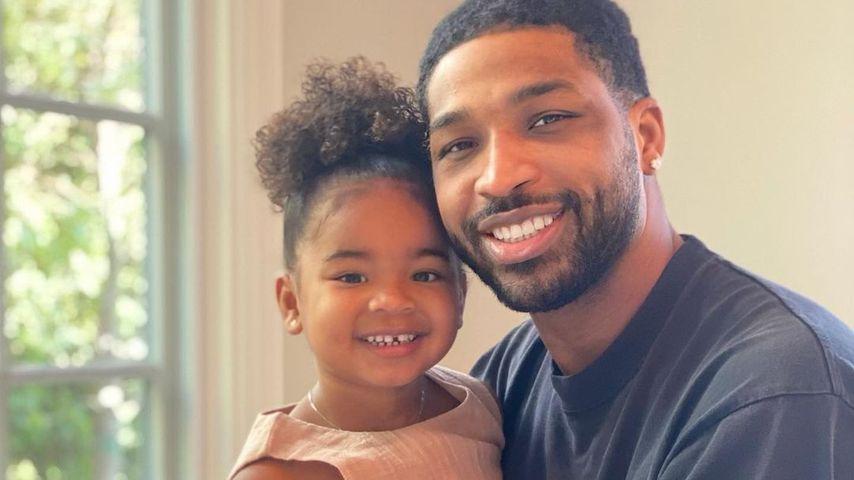 Tristan Thompson mit seiner Tochter True