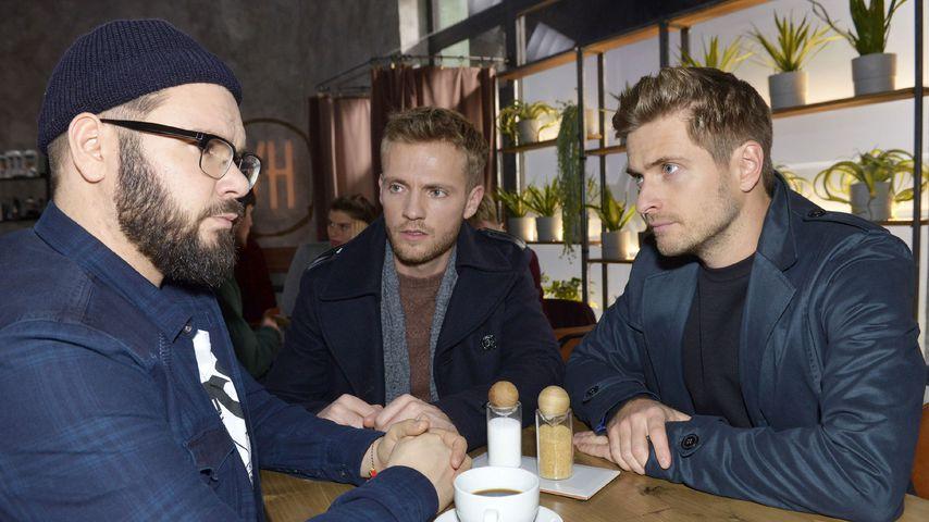 Tuner (Thomas Drechsel), Paul (Niklas Osterloh) und Philip (Jörn Schlönvoigt) bei GZSZ