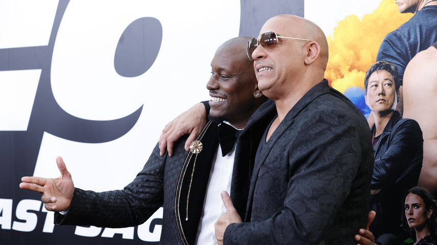 """Tyrese Gibson und Vin Diesel bei der """"F9""""-Premiere in Los Angeles, Juni 2021"""