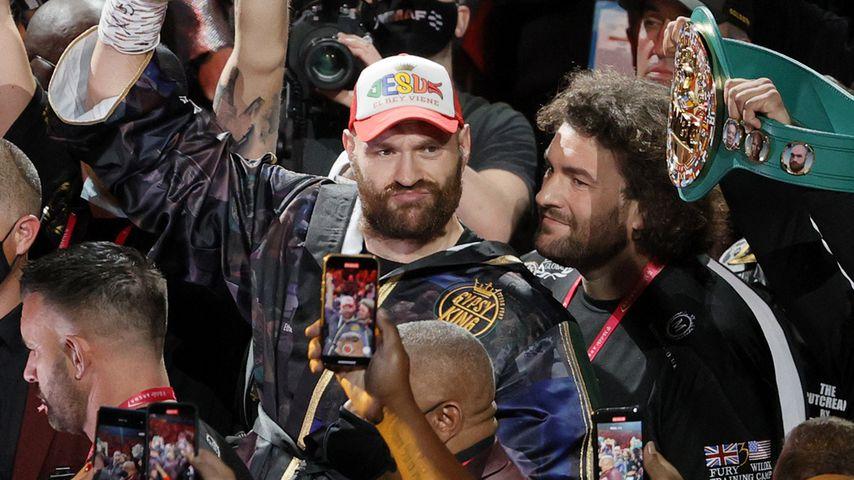 Tyson Fury beim Kampf gegen Deontay Wilder in Las Vegas, Oktober 2021