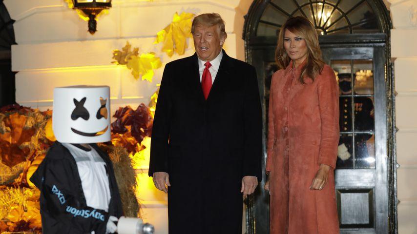 US-Präsident Donald Trump mit seiner Frau Melania, 2020