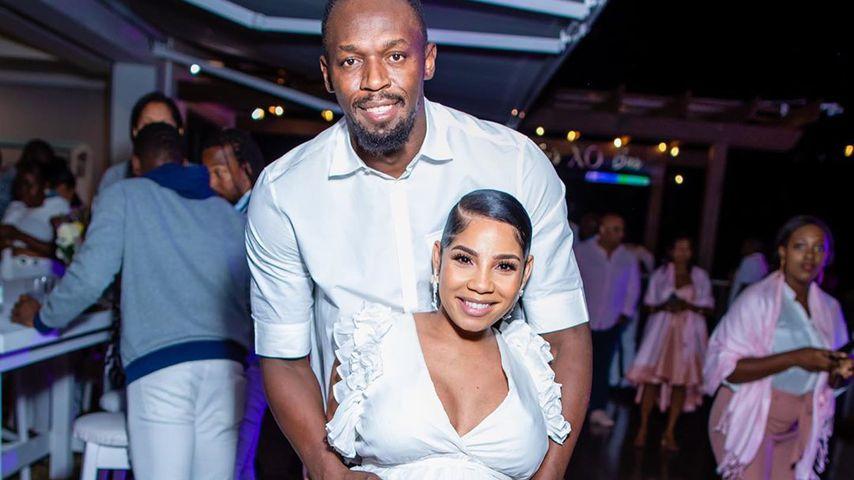 Usain Bolt und seine Freundin Kasi Bennett im März 2020