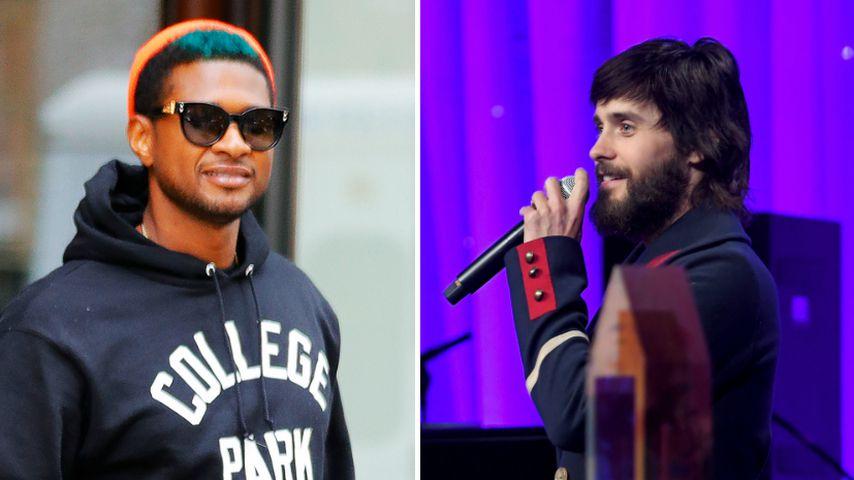 Wie sehen die denn aus? Usher & Jared Leto im Haar-Rausch