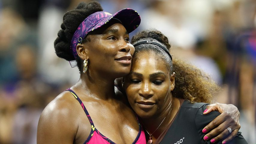 Venus Williams und Serena Williams bei den US-Open 2018