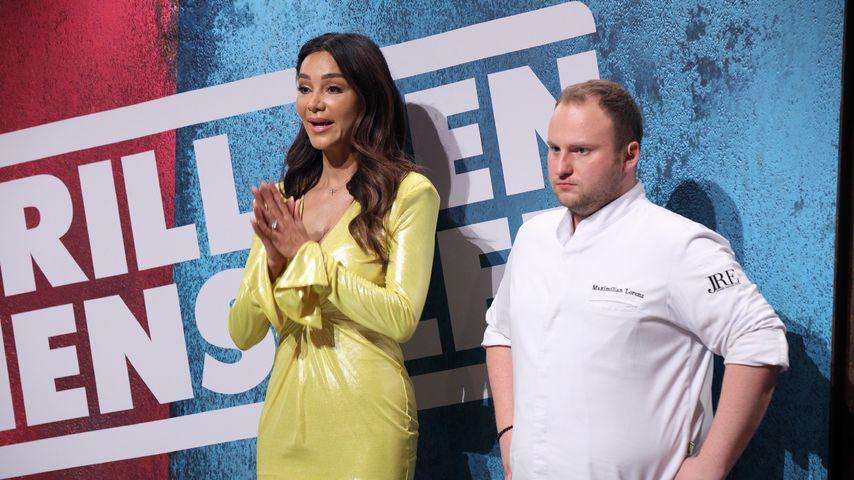 """Verona Pooth und der Kochcoach Maximilian Lorenz bei """"Grill den Henssler"""" 2020"""